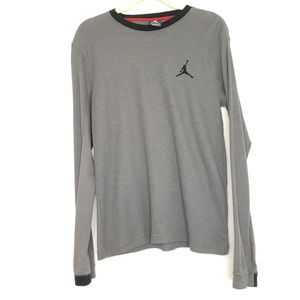 Jordan Gray Long Sleeve Thermal Shirt Men's Medium